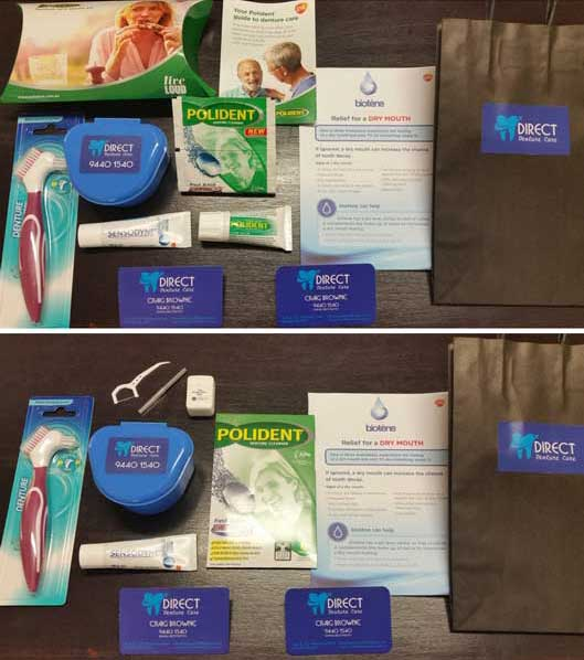 Direct Denture Care Packages